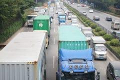 深圳,中国:107国民公路交通 免版税库存照片