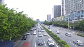 深圳,中国:107国民路汽车风景 免版税图库摄影