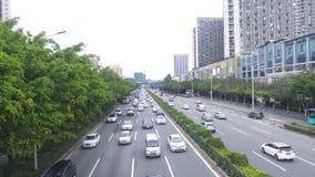 深圳,中国:107国民路汽车风景 库存图片