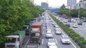深圳,中国:107国民路汽车风景 免版税库存照片