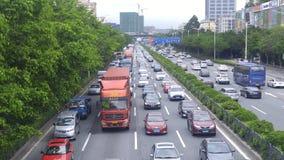 深圳,中国:107国民路汽车风景 库存照片
