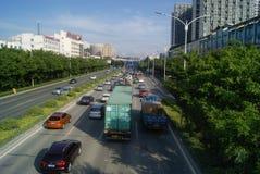 深圳,中国:107国民路 库存图片