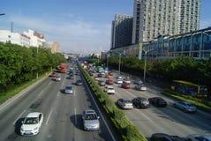 深圳,中国:107国民路 库存照片