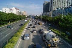 深圳,中国:107国民路 免版税库存图片