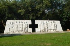深圳,中国:医疗保健工作者雕塑风景  免版税库存照片