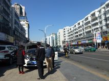 深圳,中国:liutang商业街风景 免版税库存图片