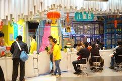 深圳,瓷:儿童的游乐场 免版税库存图片