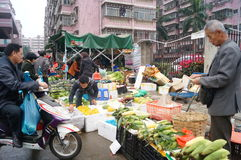 深圳,瓷:农夫市场 免版税库存图片
