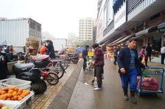 深圳,瓷:农夫市场 免版税图库摄影