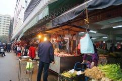 深圳,瓷:农夫市场 免版税库存照片