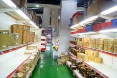 深圳,瓷:厨房供应购物中心 库存图片