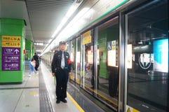 深圳,瓷:地铁站 库存图片