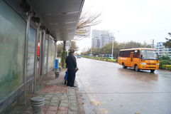 深圳,瓷:城市交通 免版税库存照片