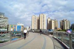 深圳,瓷:步行桥 免版税库存照片