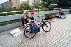 深圳,瓷:步行桥 库存照片