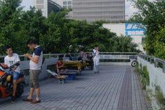 深圳,瓷:步行桥 免版税图库摄影