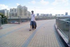 深圳,瓷:步行桥 图库摄影