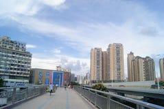 深圳,瓷:步行桥 库存图片