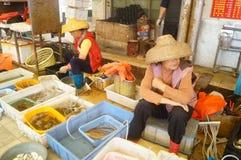 深圳,瓷:海鲜市场 库存图片