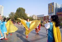 深圳,瓷:艾滋病预防活动 免版税库存照片