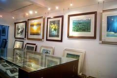 深圳,瓷:guanlan印刷品村庄风景 免版税库存照片