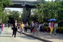 深圳,瓷:yangtaishan森林公园风景 免版税库存图片