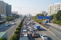深圳107状态公路运输风景 免版税图库摄影
