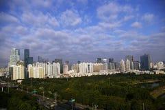 深圳CBD,瓷 库存照片
