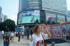 深圳huaqiang北部街道风景 免版税库存照片
