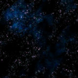 深外层空间星形 库存图片