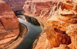深峡谷西南科罗拉多河沙漠自然风景土地 免版税库存照片