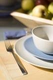 深度域浅的餐位餐具 图库摄影