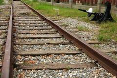 深度域铁路浅跟踪 免版税图库摄影