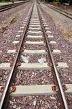 深度域铁路浅跟踪 免版税库存照片