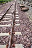 深度域铁路浅跟踪 库存图片