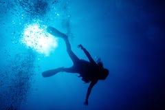 深度潜水员 免版税库存照片