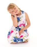 深情的小女孩 免版税库存照片