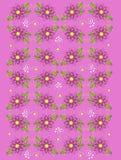 深桃红色庭院的大竺葵 免版税库存图片