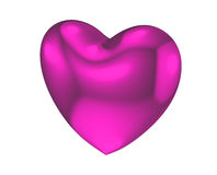 深桃红色的心脏爱标志 库存照片
