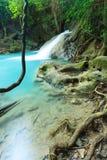 深森林瀑布在泰国 库存图片