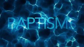 深水洗礼标题水摘要圈 库存例证