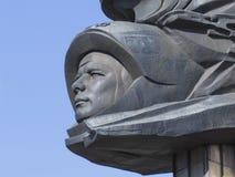 深浮雕与尤里・加加林的图象,世界的第一位宇航员 库存照片