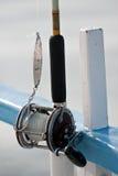 深海渔卷轴 库存图片