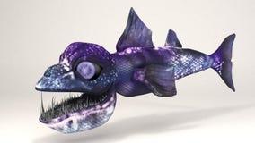 深海生物鱼恐龙 免版税库存照片