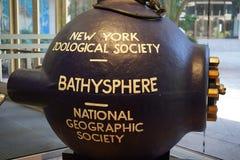 深海调查用球形潜水装置-第一深海探险 免版税图库摄影