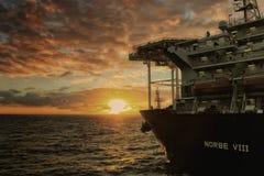 深海钻井船NORBE VIII 库存照片