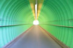 深深绿色隧道恐怖感受 免版税图库摄影