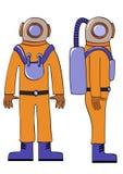 深潜水员海运 免版税图库摄影