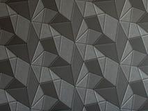 深灰几何3d纹理墙纸 免版税库存照片