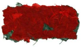 被隔绝的宣纸纹理-圣诞节红色  免版税库存图片